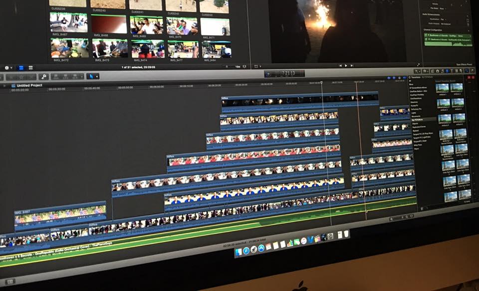 video portfolio editing timeline
