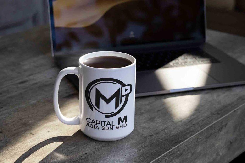 contact us photo logo on mug